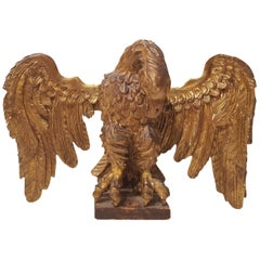 17th Century Italian Giltwood Carved Eagle