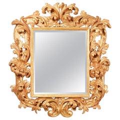 17th Century Italian Giltwood Mirror