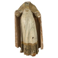 17th Century Italian Headless Wooden Gilded Statue of a Saint