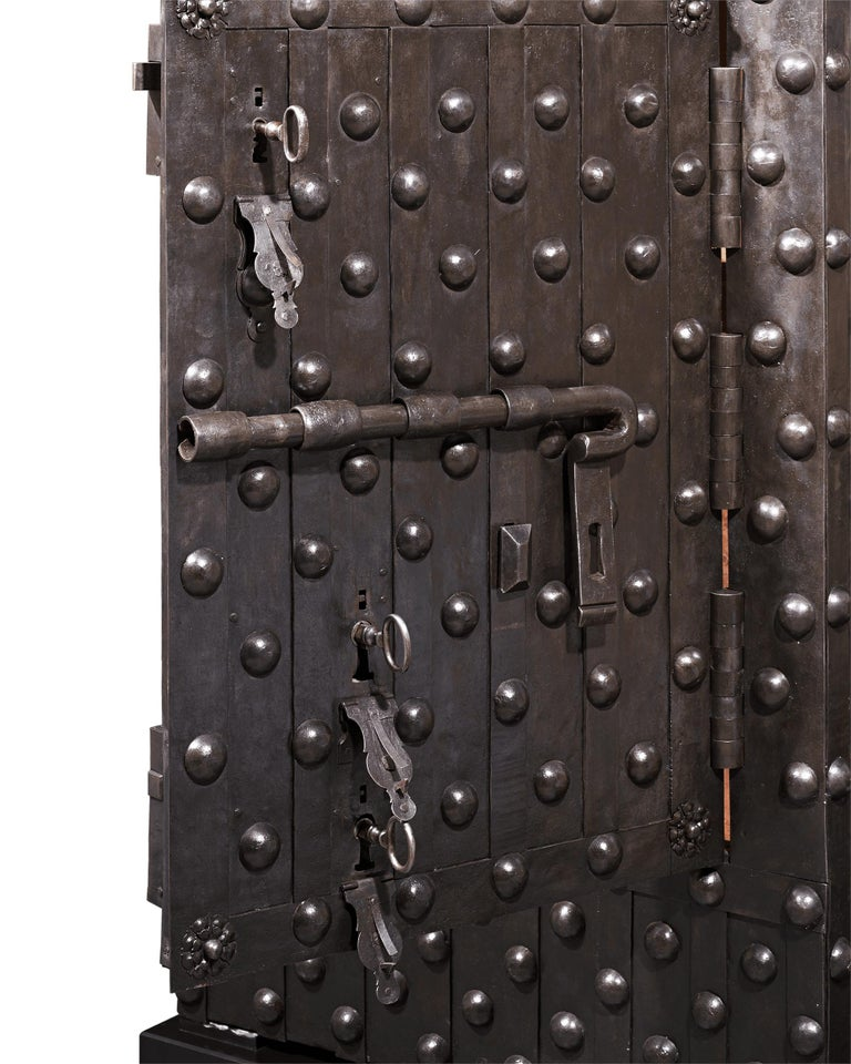 18th Century and Earlier 17th Century Italian Iron Safe For Sale