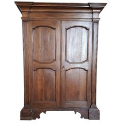 17th Century Italian Louis XIV Walnut Wardrobe