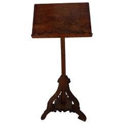 17th Century Italian Poplar Wood Music Stand