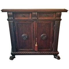 17th Century Italian Renaissance Walnut Credenza or Cabinet