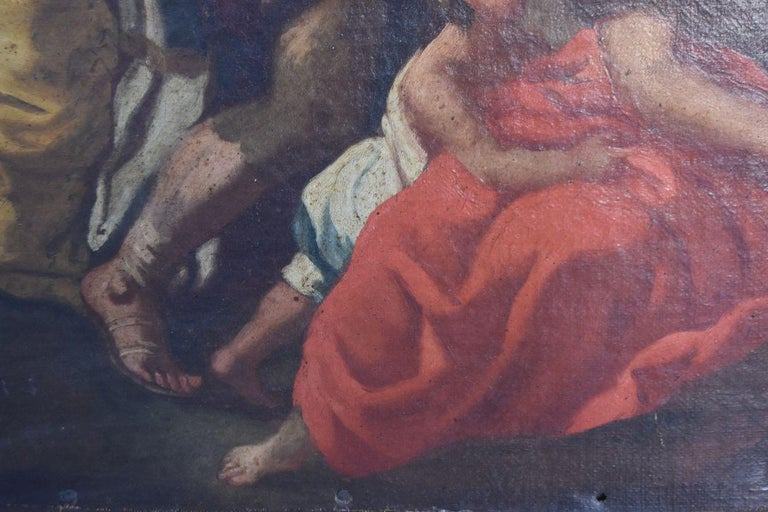 18th Century and Earlier 17th Century Italian School Biblical Scene For Sale