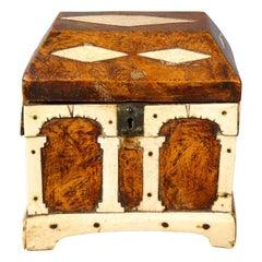 17th Century Italian Walnut and Bone Box