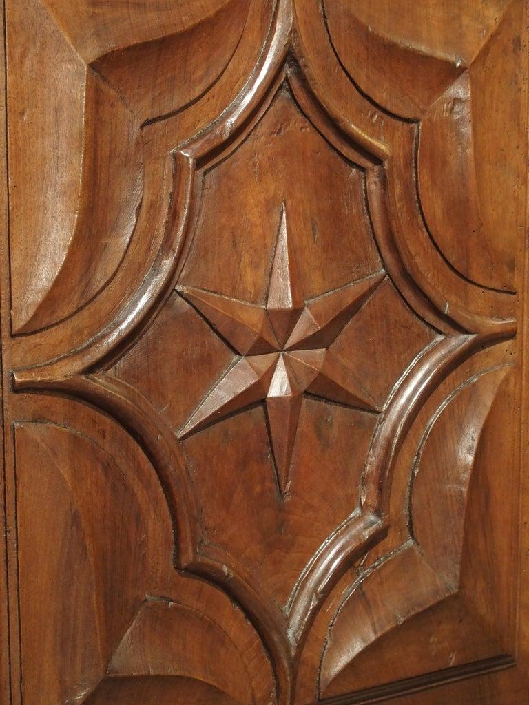 17th Century Italian Walnut Wood Corner Cabinet For Sale 8