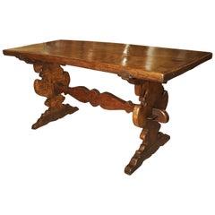 17th Century Italian Walnut Wood Table
