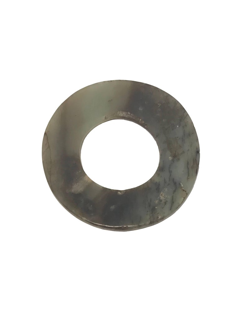 Other 17th Century, Jade Disc 'Bi', Ming Dynasty, Art of China For Sale