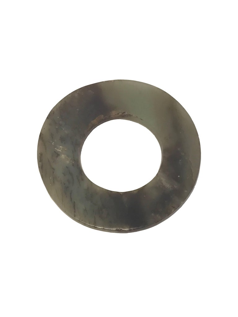 Chinese 17th Century, Jade Disc 'Bi', Ming Dynasty, Art of China For Sale