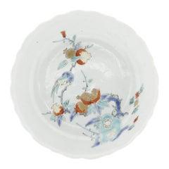 17th Century Japanese Saucer, Kakiemon Ceramics, Bird and Pomegranate, Antique