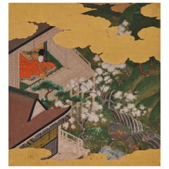 17th Century Japanese Tale of Genji Painting, Tosa School