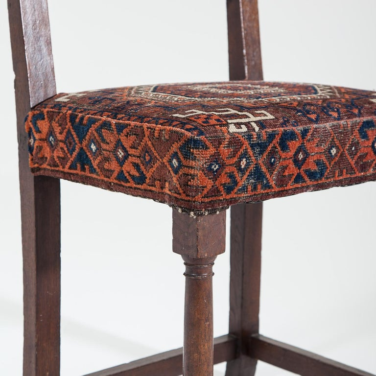 17th Century Joined Oak Back Stool For Sale 5