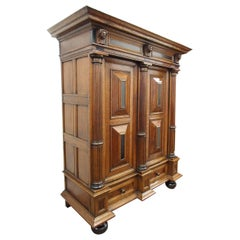 17th Century Large Dutch Oak Armoire or Cabinet