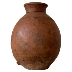 17th Century Large Red Terracotta Vessel, Vase, Planter with Low Tap