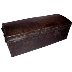 17th Century Leather Travelling Trunk