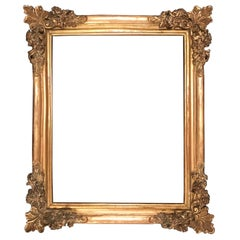 17th Century Louis XIV Large Giltwood Frame