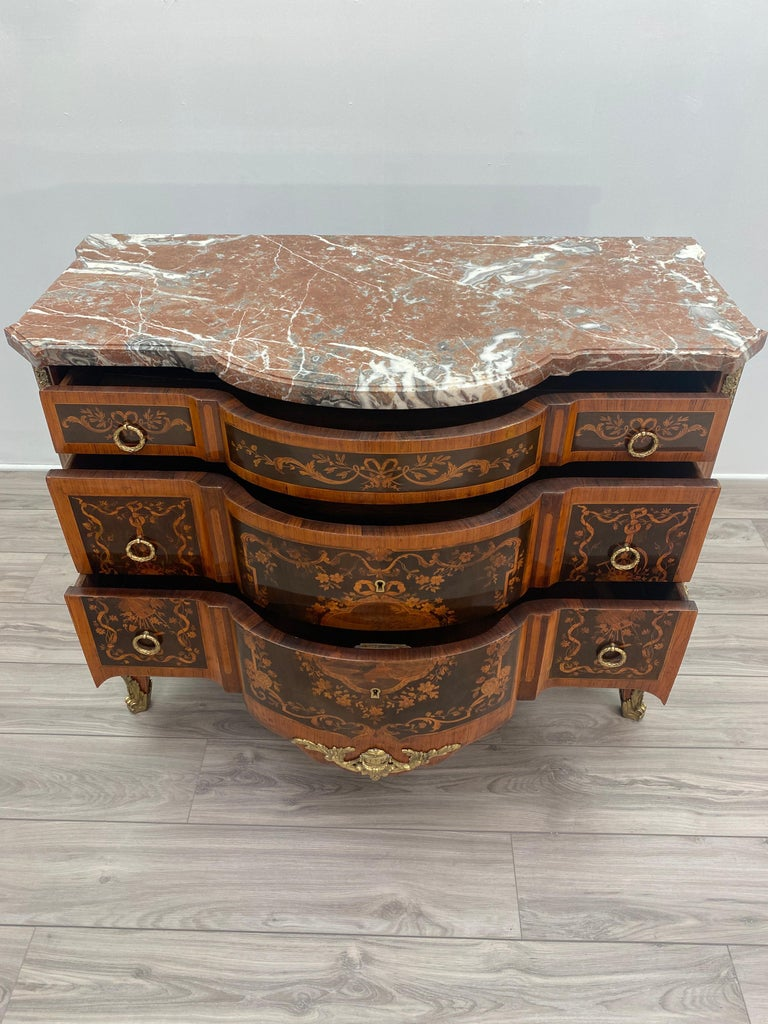Louis XVI Marble Top Commode For Sale 9