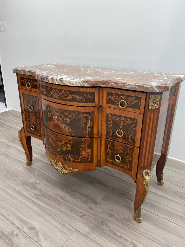 Louis XVI Marble Top Commode For Sale 1