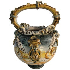 17th Century Majolica Wet Drug Jar