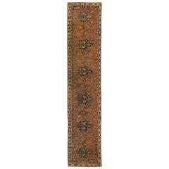 17th Century Narrow Cairene Dusty Rose Handwoven Wool Runner