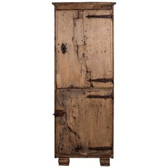 17th Century Naturally Bleached Oak Cupboard