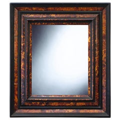 17th Century Netherlandish Cabinetmaker's Frame, with its Period Mirror Plate