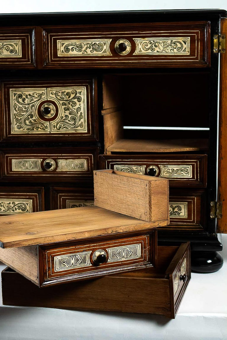 17th Century North-Italian Collectors Cabinet, circa 1650-1690 For Sale 5