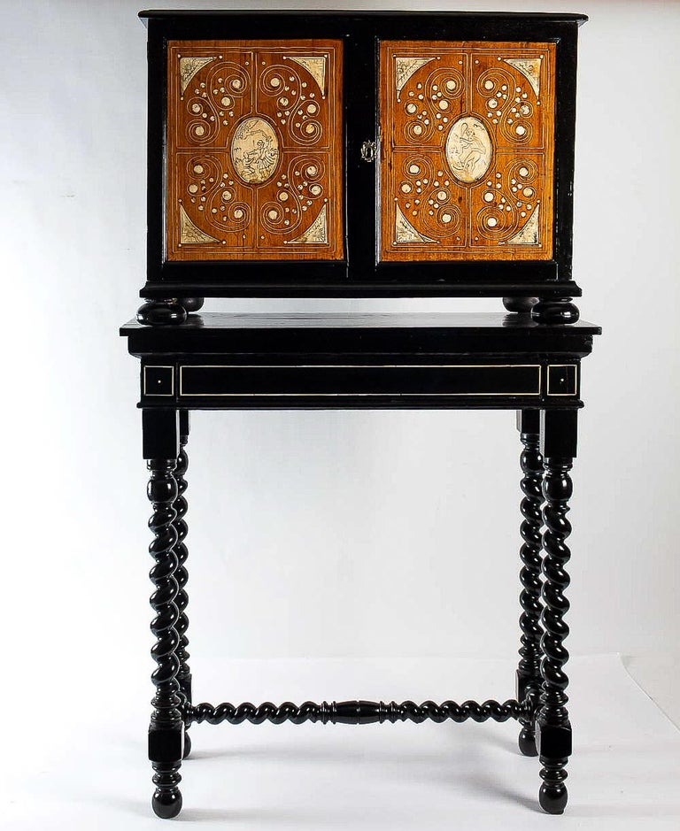 17th Century North-Italian Collectors Cabinet, circa 1650-1690 For Sale 7