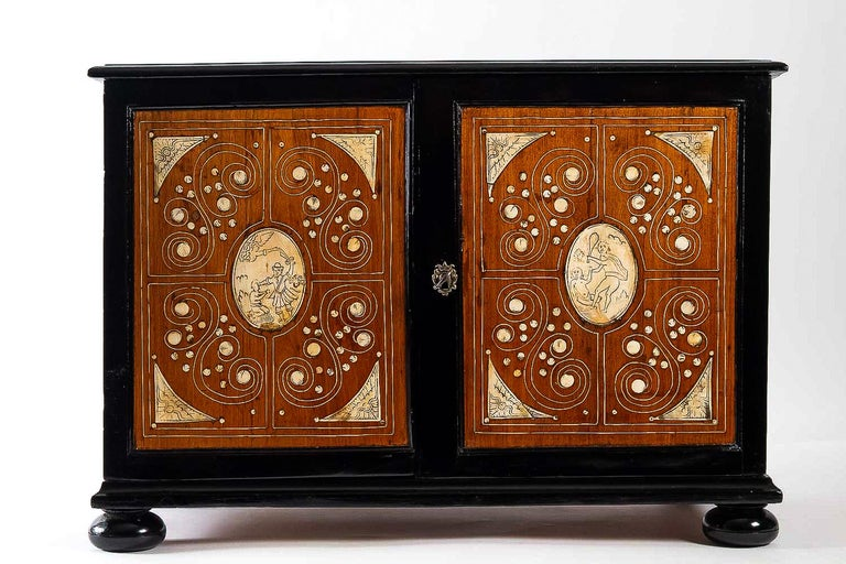 Louis XIV 17th Century North-Italian Collectors Cabinet, circa 1650-1690 For Sale