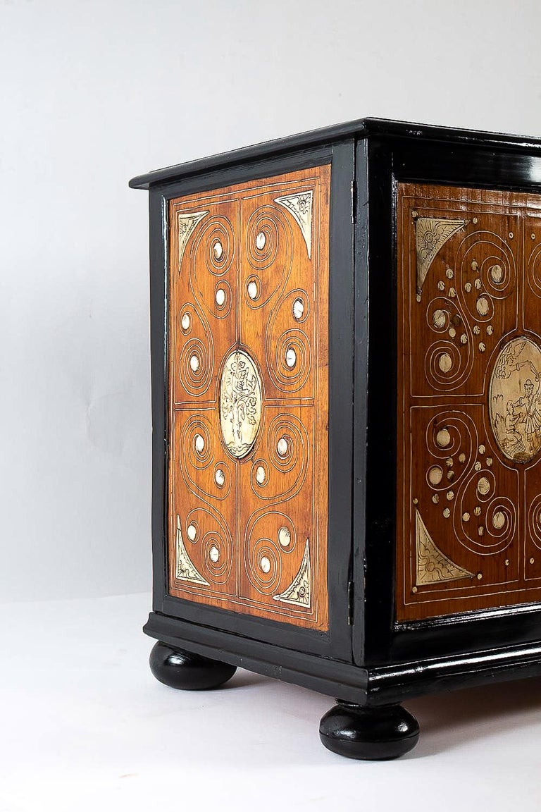 Blackened 17th Century North-Italian Collectors Cabinet, circa 1650-1690 For Sale