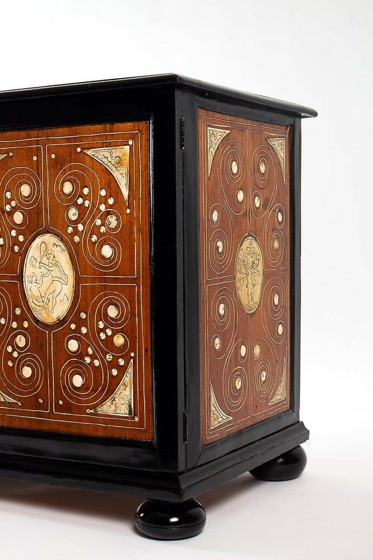 Bone 17th Century North-Italian Collectors Cabinet, circa 1650-1690 For Sale