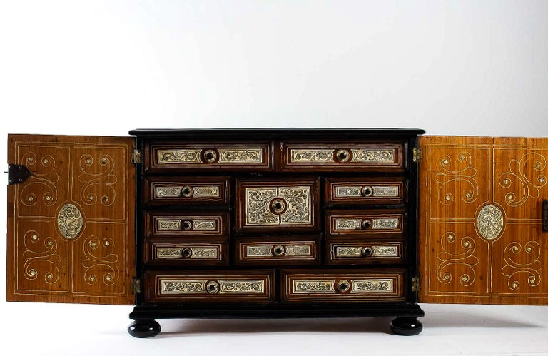 17th Century North-Italian Collectors Cabinet, circa 1650-1690 For Sale 1