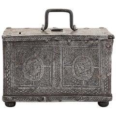 17th Century Nuremberg Etched Steel Casket