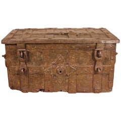 17th Century Nurenberg Chest in Wrought Iron