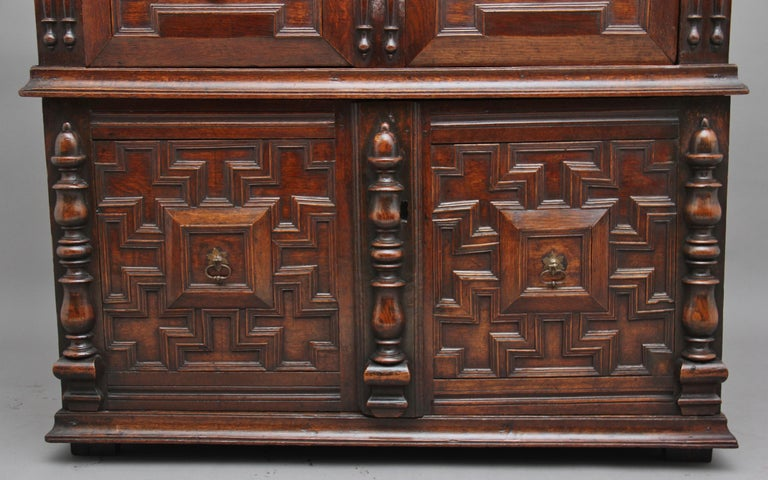 17th Century Oak Enclosed Chest of Drawers For Sale 4