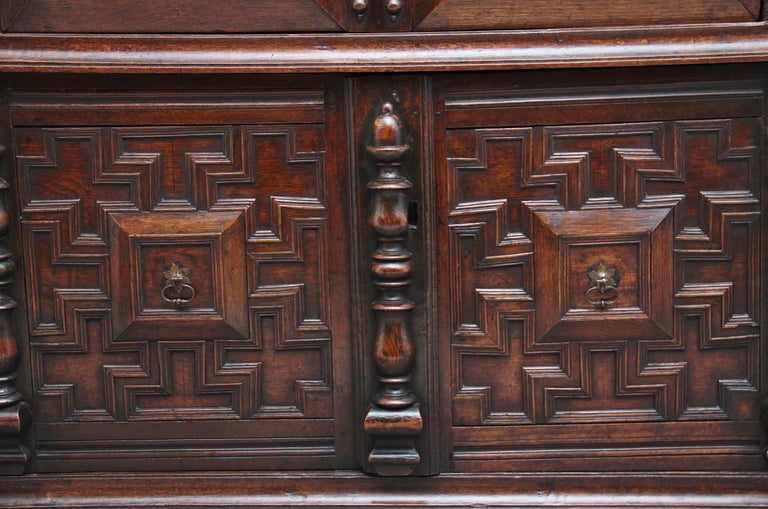 17th Century Oak Enclosed Chest of Drawers For Sale 5