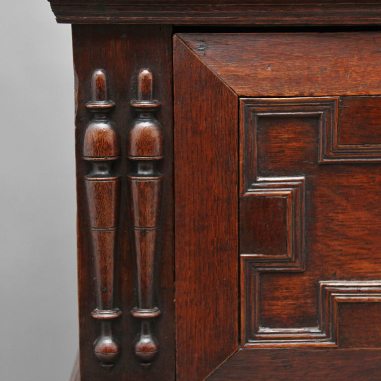 17th Century Oak Enclosed Chest of Drawers For Sale 6