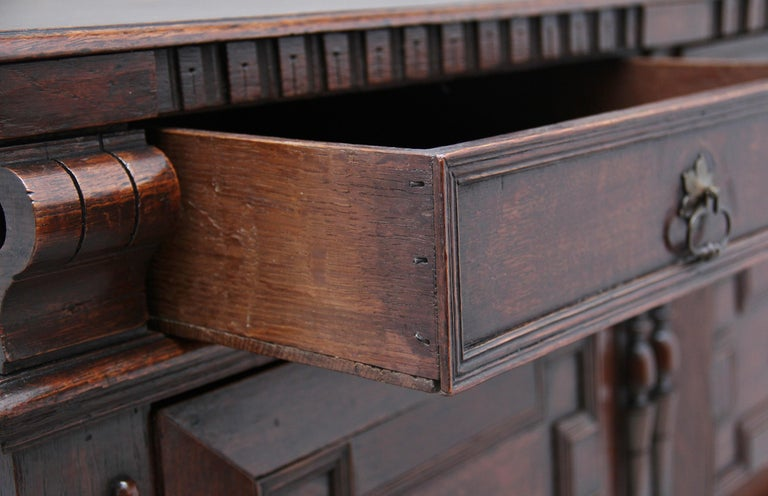 17th Century Oak Enclosed Chest of Drawers For Sale 7