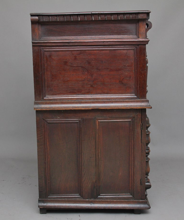 Late 17th Century 17th Century Oak Enclosed Chest of Drawers For Sale