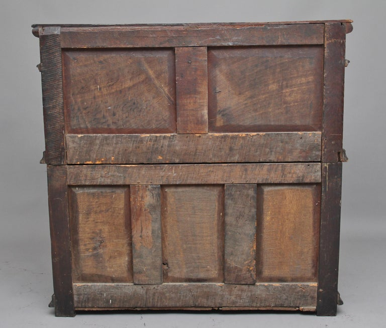 17th Century Oak Enclosed Chest of Drawers For Sale 1