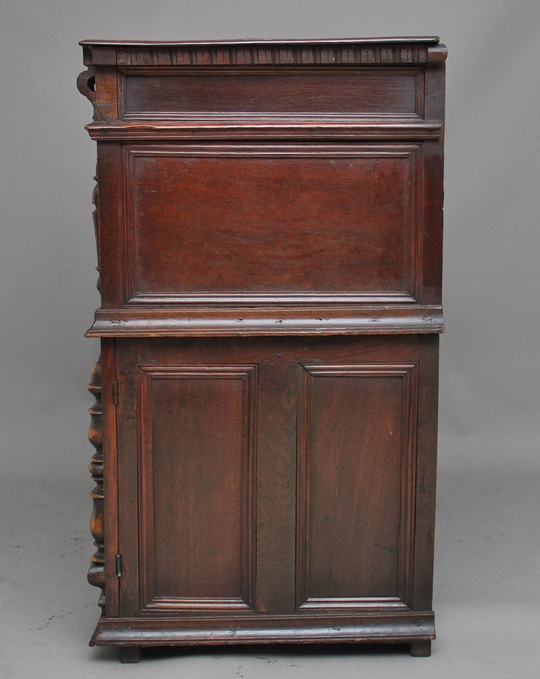 17th Century Oak Enclosed Chest of Drawers For Sale 2