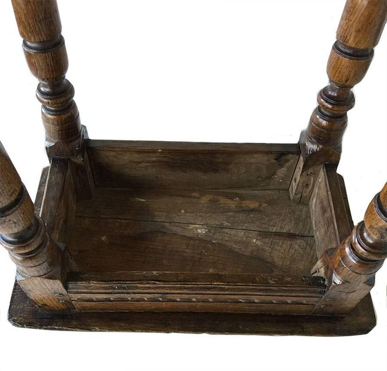 British 17th Century Oak Joint Stool For Sale