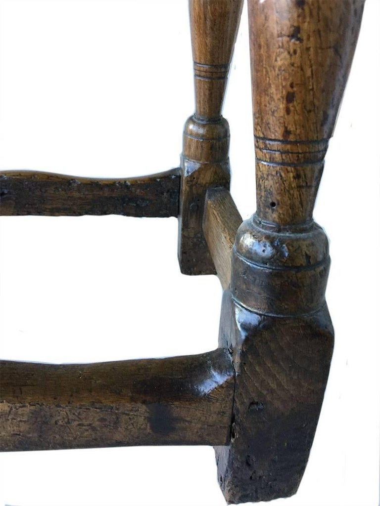 17th Century Oak Joint Stool In Good Condition For Sale In Delft, NL