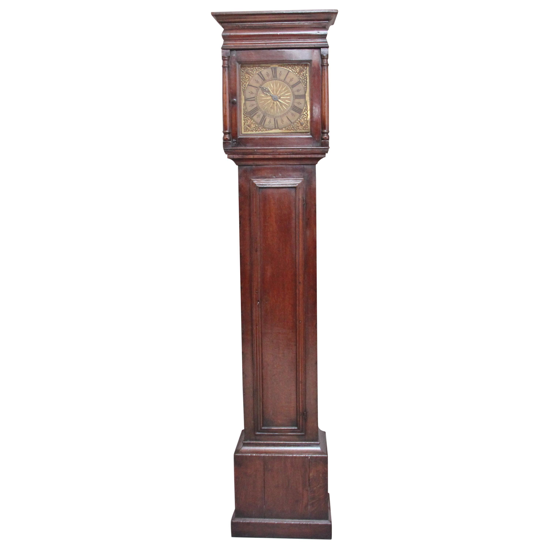 17th Century Oak Longcase Clock