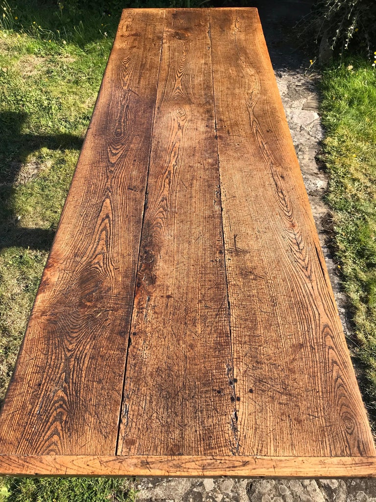 17th Century Oak Refectory Table, Charles II Period For Sale 2