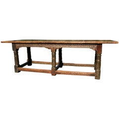 17th Century Oak Refectory Table, Charles II Period