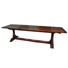 17th Century Oak Refectory Table Seating 10-12