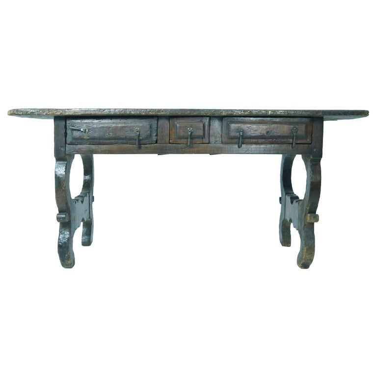 17th Century Oak Spanish Refectory Table For Sale