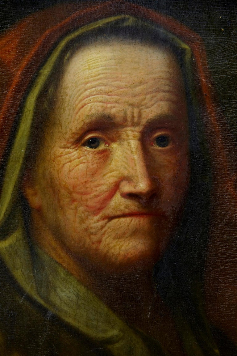 German 17th Century Oil on Board of Lady, Attributed to Balthasar Denner For Sale