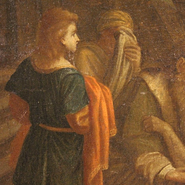 17th Century Oil on Canvas Italian Religious Painting The Prodigal Son, 1680 For Sale 1